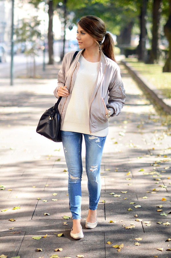 mariannan blogger jacket jeans bag jewels