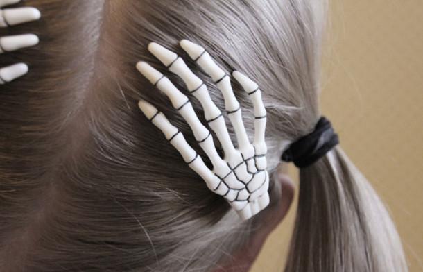 jewels skull hands hairstyles bones hair accessories lovely bones