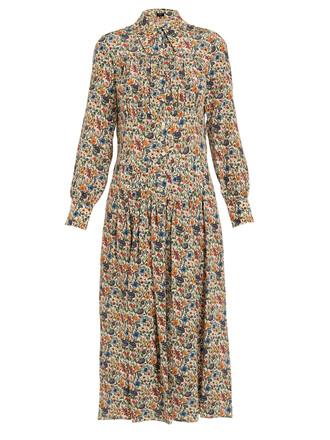 dress midi dress midi floral print silk