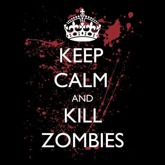 """Keep Calm and Kill Zombies 3"" T-Shirts & Hoodies by supalurve 
