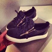 shoes,sneakers,black,zip,gold,luxury,white,lace up,perfecto,bag,giuseppe zanotti,zanotti sneakers,black shoes,basket,gold shoes,black sneakers,black gold white,blak shoes,keds,blue,dark blue,dark blue shoes,dark blue sneakers,fashion,style,cool,cool style