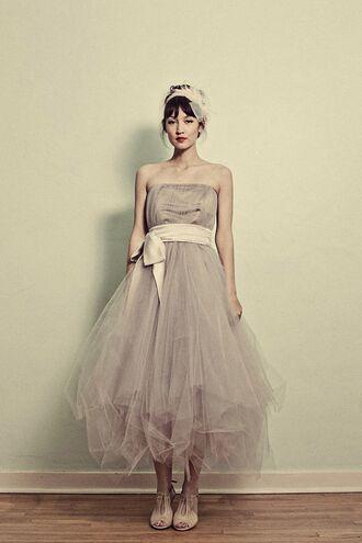 tulle skirt tulle dress grey etsy wedding dress prom dress prom vintage vintage dress grey dress tulle wedding dress hipster wedding dress