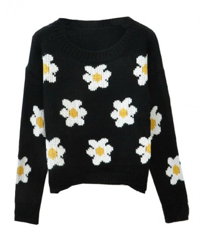 Daisy Pullover with Round Neckline - Knit Tops - Pullover - Knitwear - Clothing