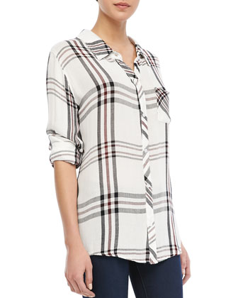 Rails Buttoned Check Pocket Shirt - Neiman Marcus