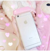 phone cover,baby girl,pastel,cute,kawaii,iphone,pink,pink case,chanel iphone 6 6s case