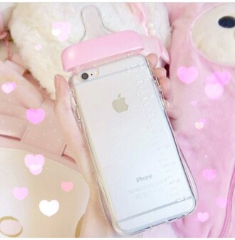 phone cover baby girl pastel cute kawaii iphone pink pink case chanel iphone 6 6s case