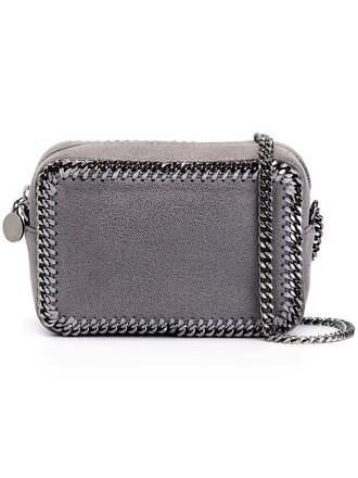 zip bag crossbody bag grey