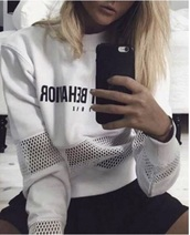 sweater,tumblr,white,mesh