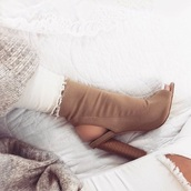 shoes,tan open toe shoes,heels,khaki,ankle heels,open toes,black,booties,brown,nude,cut out shoes