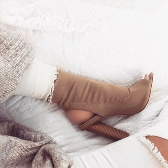 shoes tan open toe shoes heels khaki ankle heels open toes black booties brown nude cut out shoes
