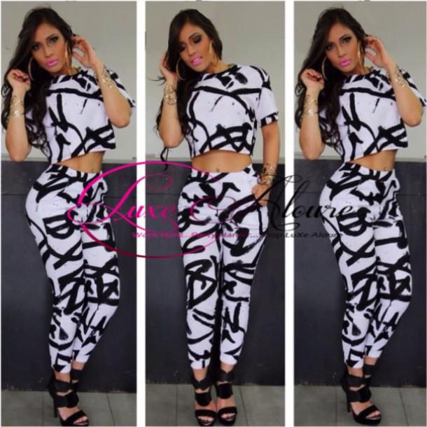 137a62c8b273c pants set set joggers leggings girl girly girl women clubwear crop