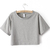 Light Grey Short Sleeve Crop T-shirt - Sheinside.com