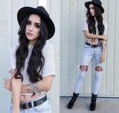 jeans,denim,boho,chic,pants,belt,vintage,boyfriend jeans,hat