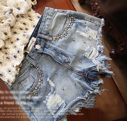 Pearl cotton high waist jeans ab830dd
