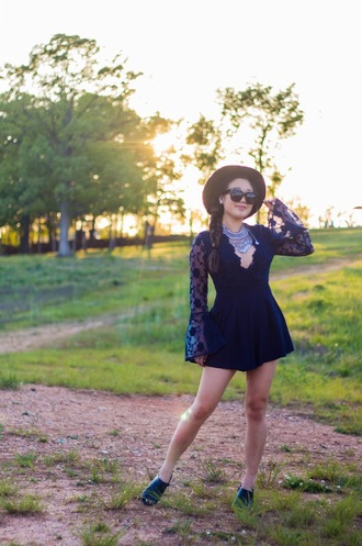 gracefullee made blogger romper jewels sunglasses hat shoes