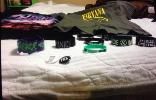 t-shirt peirce the veil and nirvana punk emo goth jewels