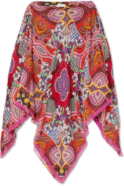 ETRO cold silk red top