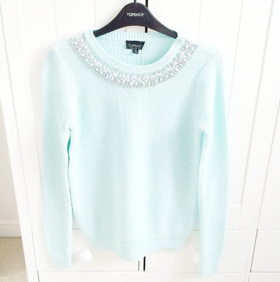mint sweater light blue blouse mint sweater winter sweater winter outfits