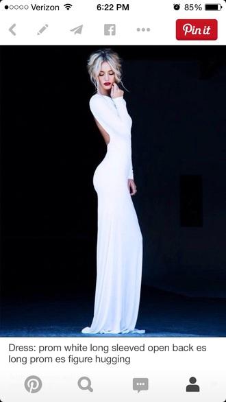 dress floor length dress white dress gorgeous dress prom dress evening dress maxi dress white backless dress