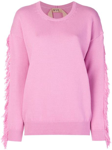 No21 sweater women cotton purple pink