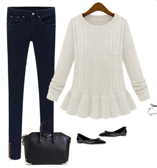 Peplum knit sweater – jajafit