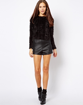 River Island | River Island High Waisted Shorts at ASOS