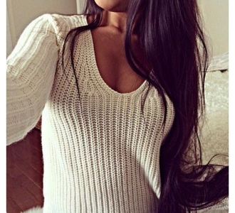 sweater knit white sweater winter outfits