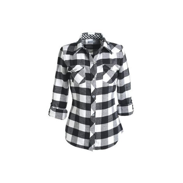 Delia 39 S Buffalo Plaid Elisa Flannel Shirt Black And White