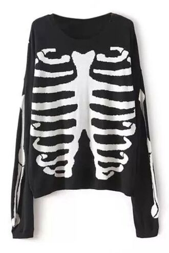 blouse clothes black blouse skull blouse skeleton