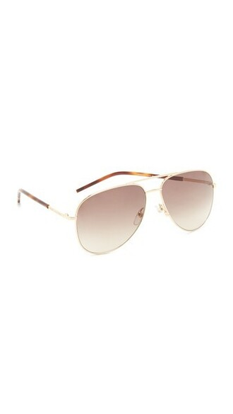 sunglasses aviator sunglasses gold brown
