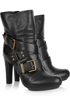 DKNY | Sandra buckled leather boots | NET-A-PORTER.COM