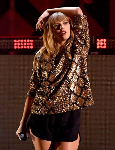 blouse sequins glitter metallic taylor swift shorts