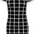 davina square check collar short sleeve dress