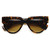 Womens Retro Bold Frame Flat Top Hipster Sunglasses 9227                           | zeroUV