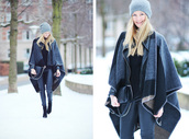 passions for fashion,blogger,poncho,winter outfits,top,pants,jacket,shoes,bag,hat
