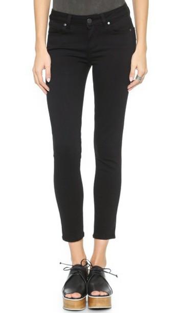 Paige Denim Transcend Verdugo Skinny Cropped Jeans - Black Shadow