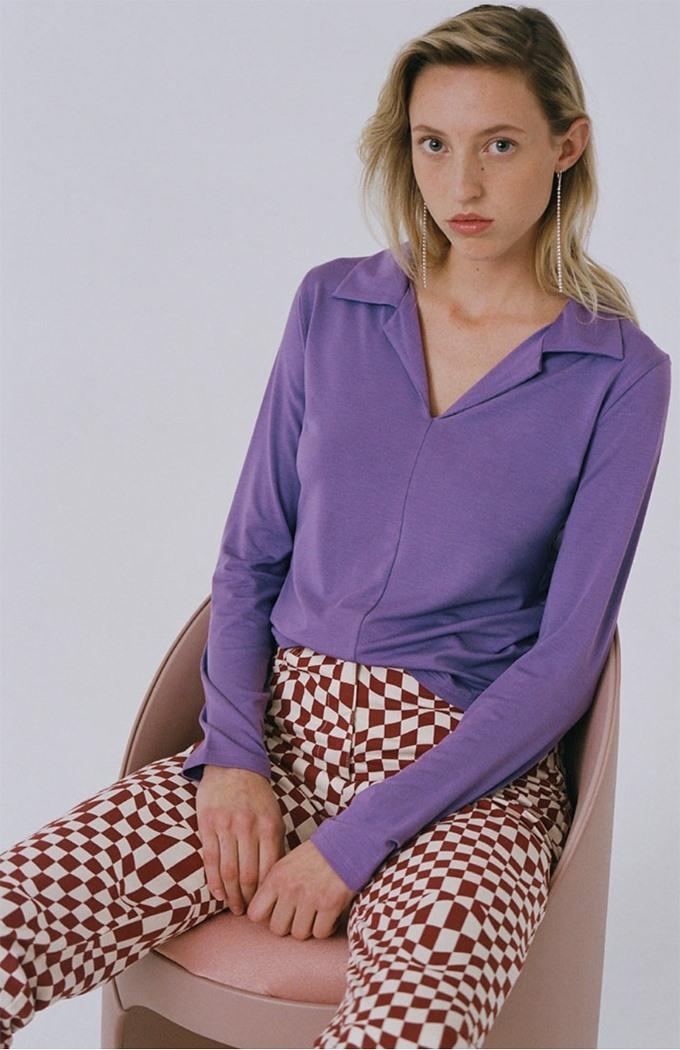 Malica Longsleeve Tee - Purple