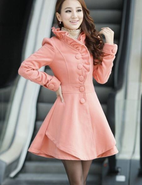 Wool coat woolen outerwear ab830ch