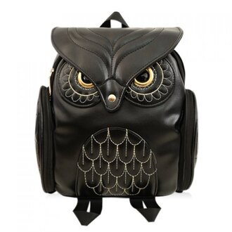 bag owl black black bag backpack