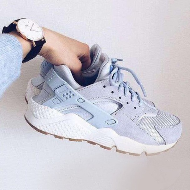 633ef505aa ... order nike huarache tumblr shoes sneakers blue light blue baby blue  fashion style sports shoes cool