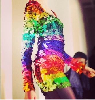 rainbow sequin dress rainbow dress sequin dress multicolor multi colored dress