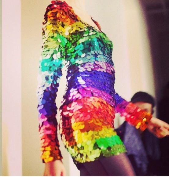 sequin dress rainbow sequin dress rainbow dress multi colored multi colored dress