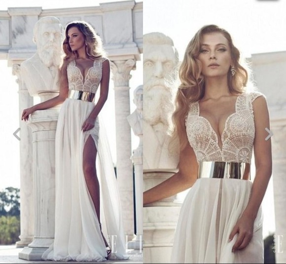 dress ivory dress long prom dresses