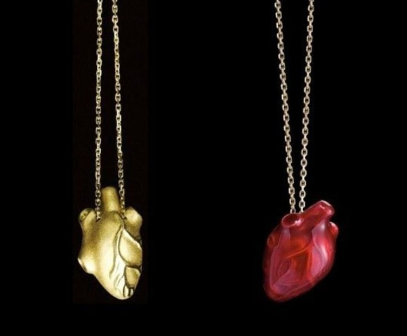anatomical heart heart jewels necklace gold red silver heart necklace fashion pendant chain instagram