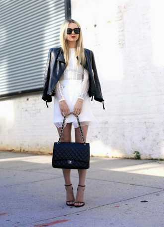 dress white dress fashion style classy