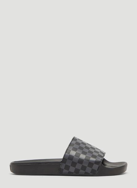 Vans Checker Slides in Black size US - 12