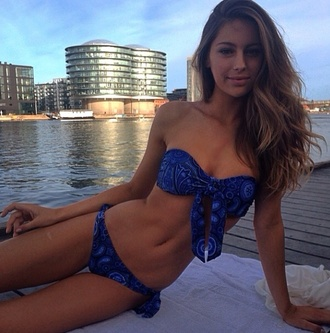 swimwear blue bikini bikini