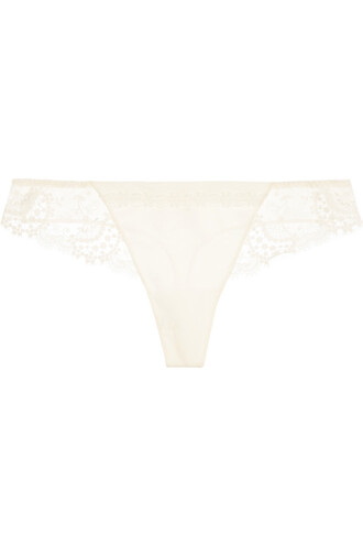 thong lace satin underwear