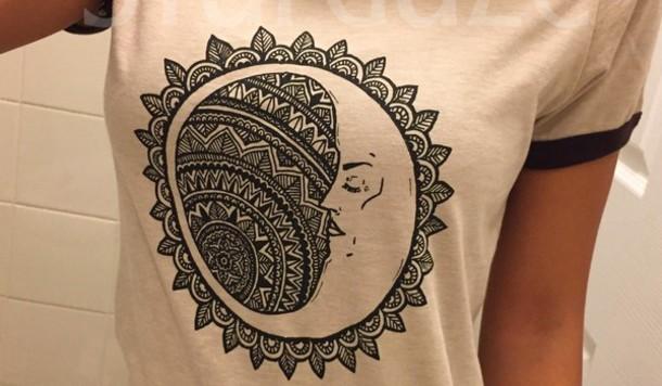 shirt beautiful moon moon