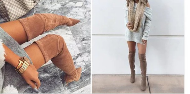 6ad45ee869bcc shoes brown thigh high boots thigh high boots tan suede thigh high boots